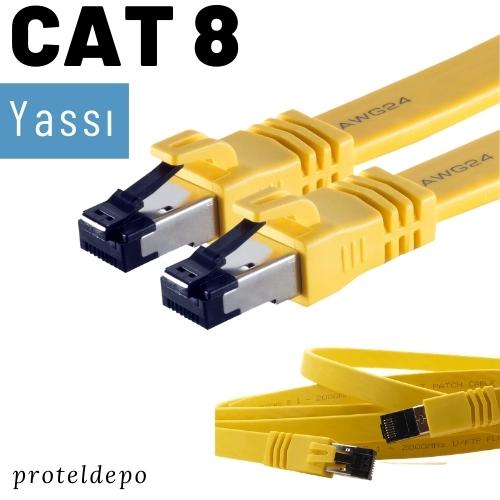 IRENIS CAT8 Yassı FTP Ethernet Kablosu